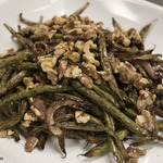 Roasted Green Beans with Red Onions and Walnuts